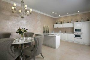 Венецианская штукатурка и сграффито в интерьере кухни
