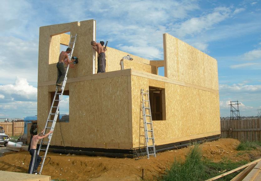 Достоинства каркасно-панельных домов