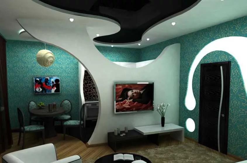 Дизайн комнаты из гипсокартонных перегородок
