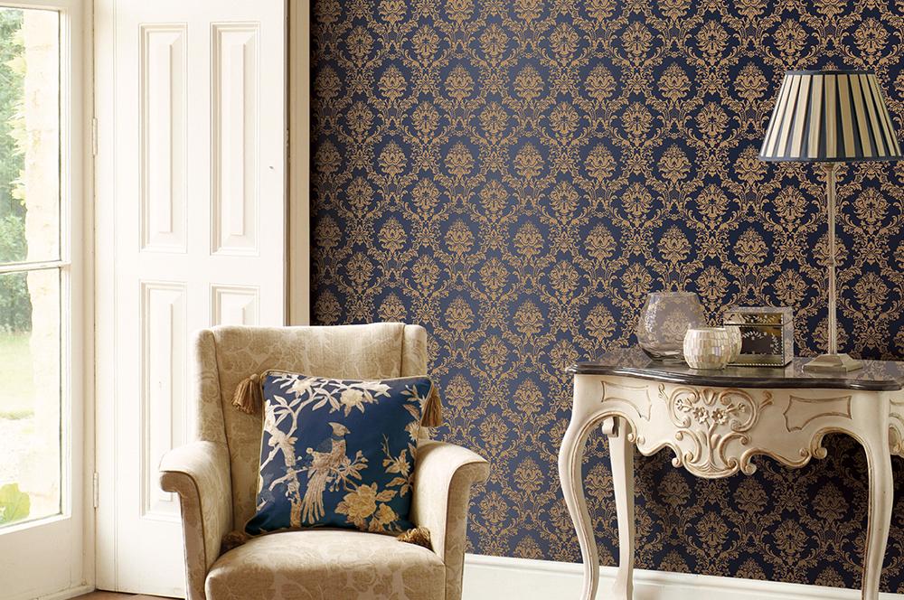 Текстильные обои – роскошь стен