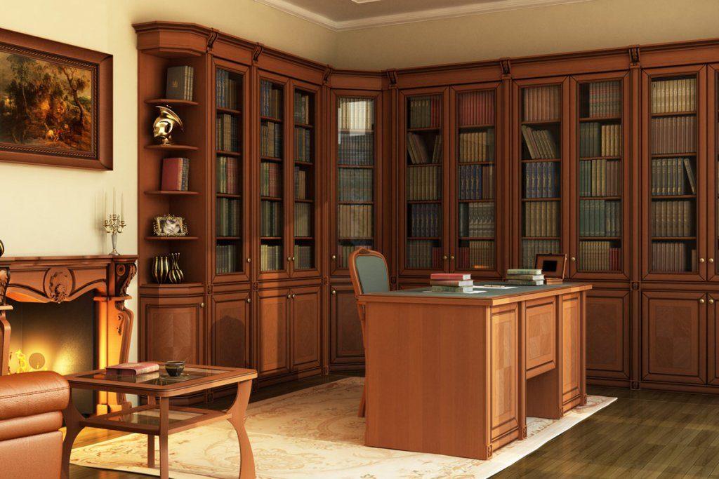 Красивая мебель для библиотеки