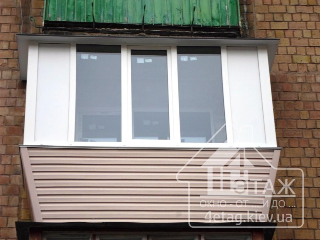 """""""4 этаж"""" Остекление балкона"""
