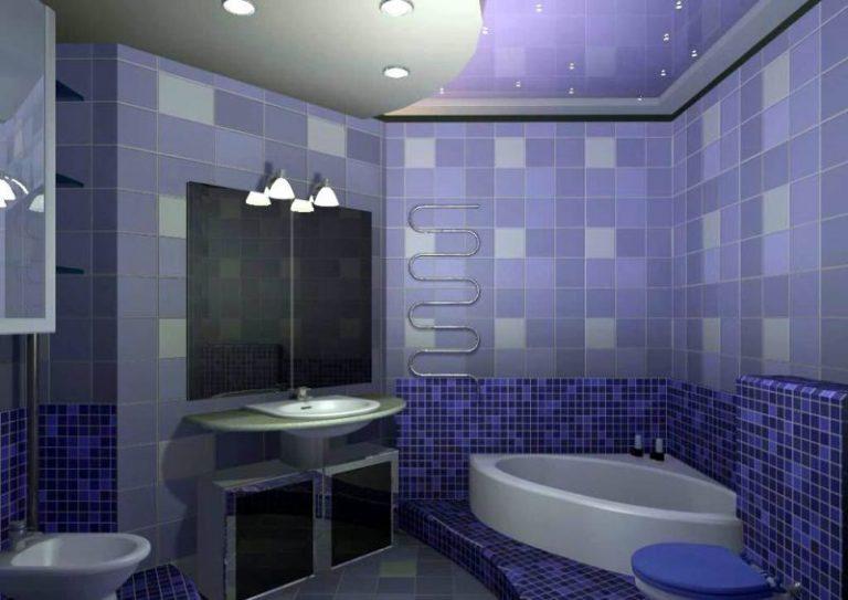 Облицовка стен в ванной комнате