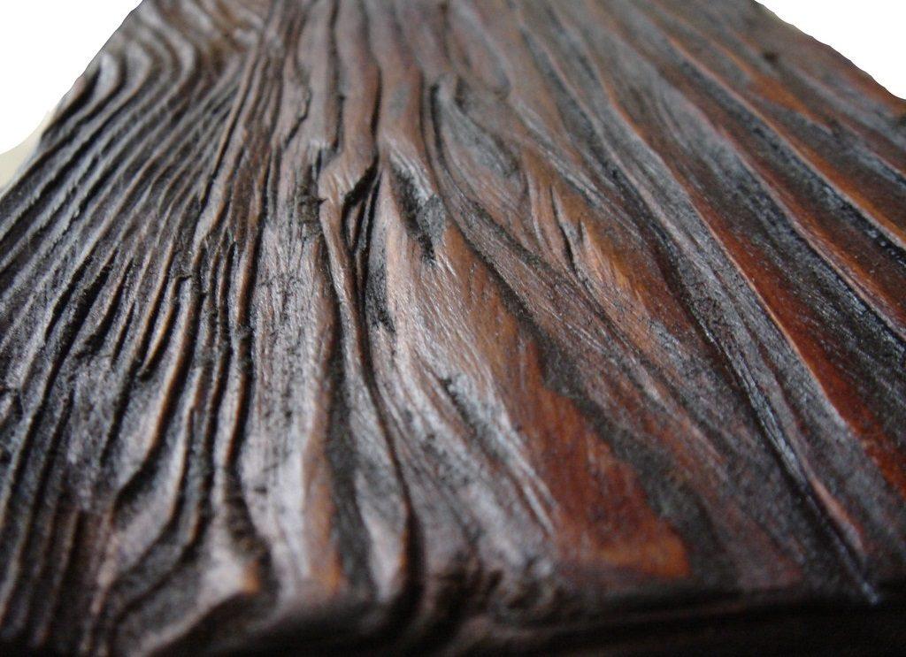 Имитация текстуры древесины и шероховатость шпона