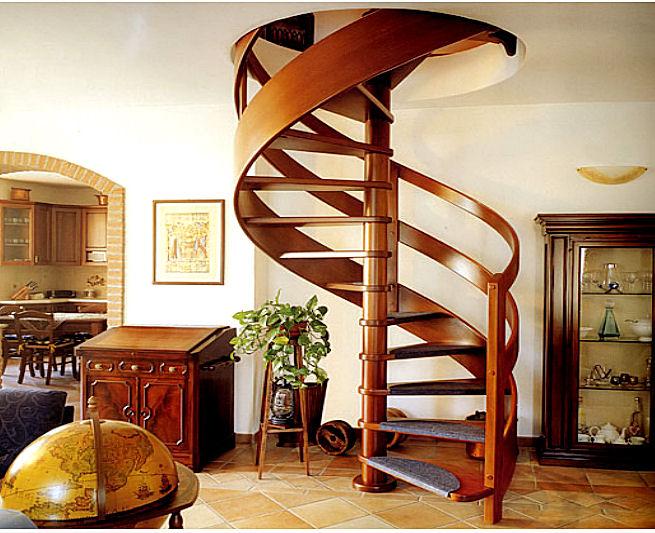 Оформление лестниц винтового типа
