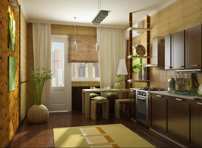 Обустройство кухонного интерьера