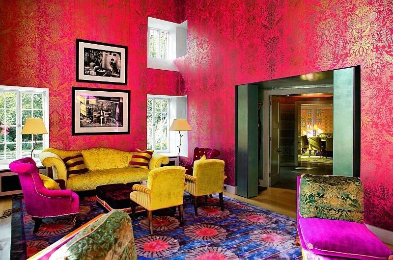 Квартира в стиле дизайна интерьера китч