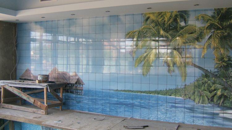 Керамическая фотоплитка для стен