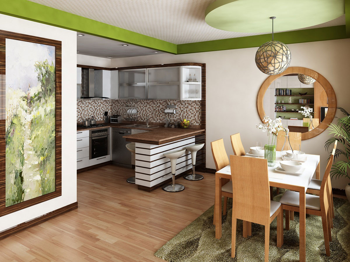 Совмещенные кухни-столовые