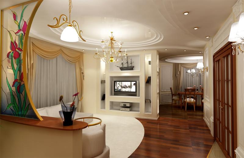 Арки в современной гостиной
