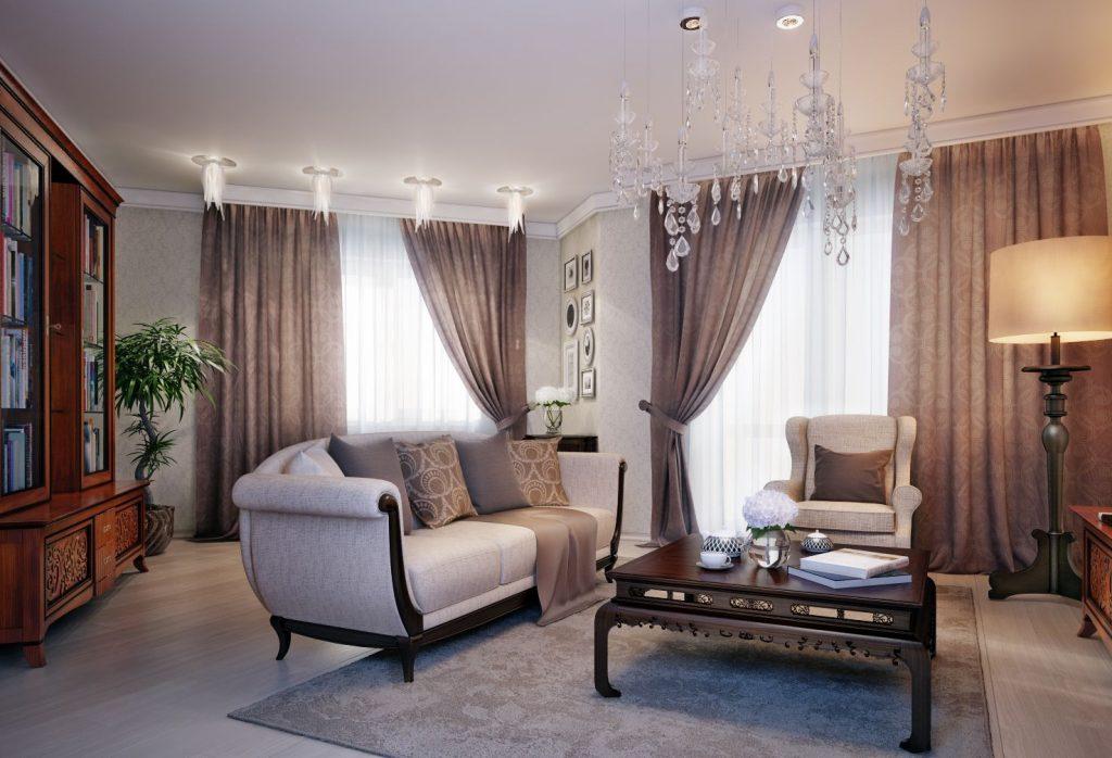 Современные мотивы стильных гостиных