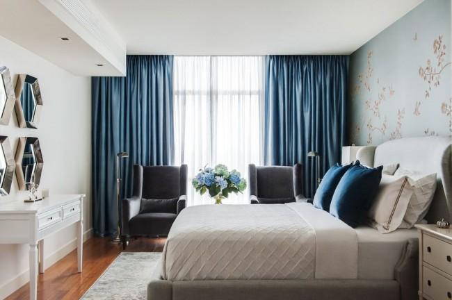 Как выбрать цвет штор в спальню