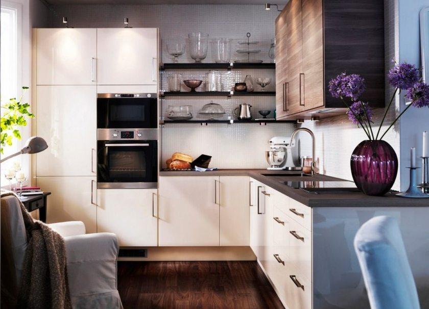Дизайнерские идеи маленьких кухонь