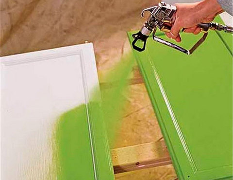 Кухонный интерьер. Покраска кухонных фасадов