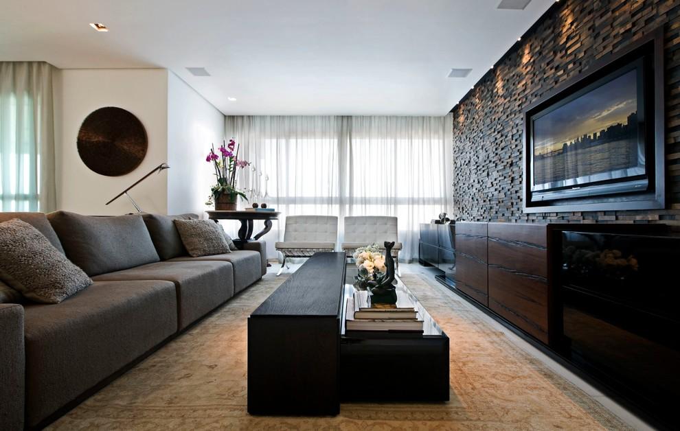 Декор помещения с телевизором