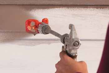 Технология покраски стен краскопультом
